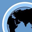 Illustration av miljömålet skyddande ozonskikt. En jordglob med en ring runtom som ska föreställa ett lager ozon.