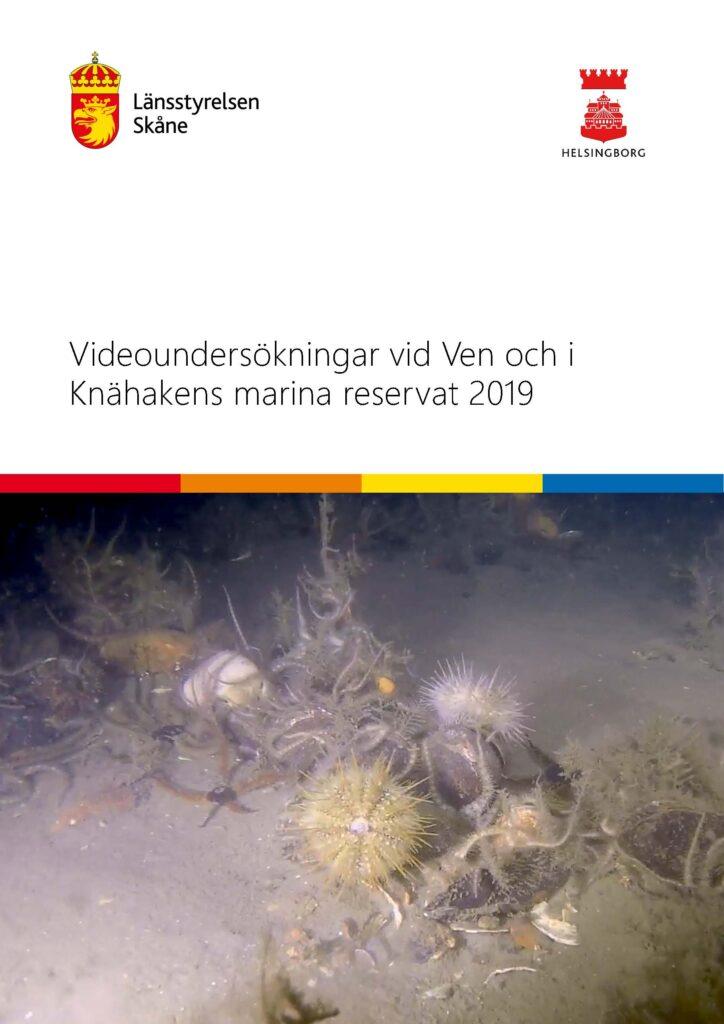 Framsida av rapporten Videoundersökningar vid Ven och i Knähakens marina reservat 2019