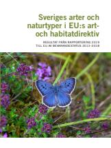 Rapportframsida Sveriges arter och naturtyper i EU:s art- och habitatdirektiv