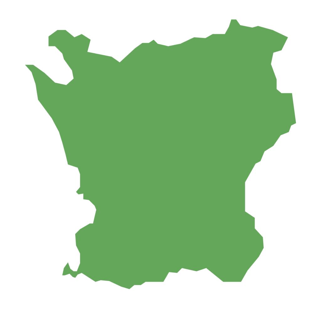 Grön skånekarta